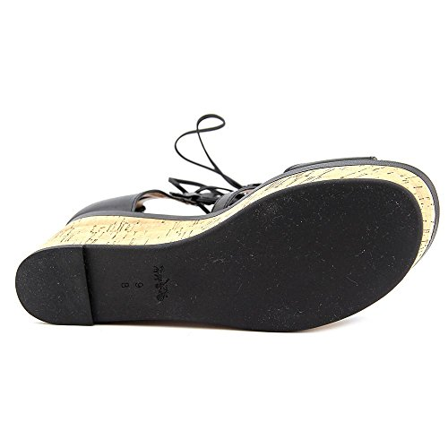 Coach Womens Barkley Open Toe Casual Platform Sandals Black Semi Matte Calf a2f4FmpNF