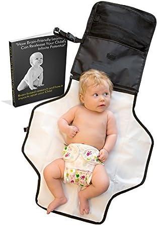 Viaje Cambio Pad - Votado # 1 Mejor Portátil Cambio Kit pañal del bebé - E