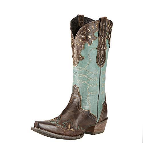 Ariat Women's Zealous Western Cowboy Boot, Barnwood, 7.5 M US (Ariat Womens Cowboy Boots)