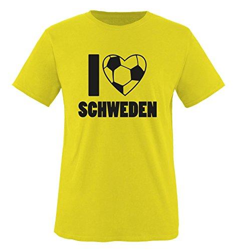 I LOVE SCHWEDEN - Kinder T-Shirt - Gelb / Schwarz Gr. 122-128