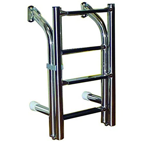 White Water B00361 Stainless Compact Transom Stern Ladder - 4 (Step Transom Ladder)
