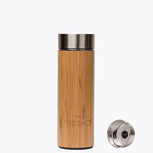 Fabricado por Fressko Rush Botella de bambú, Tamaño Mediano