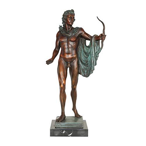 27.2″ Apollo Statue Figurine Bronze Greek Mythology God Sculpture Antique Art Home Décor Large