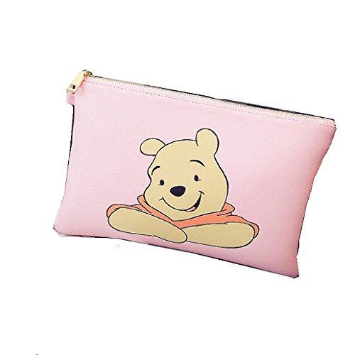 Winnie The Pooh rosa frizione/borsa a tracolla, borsa con cerniera