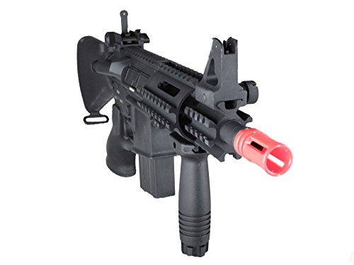 MetalTac Electric Airsoft Gun M4 CQB A&K with ABS Body, Metal Gearbox Version 2, Full Auto AEG, Upgraded Powerful Spring 380 Fps with .20g BBS ()