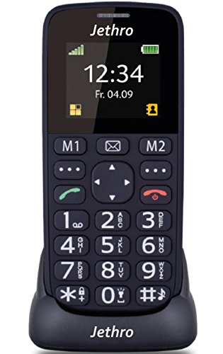 [BOXING WEEK DEAL] Jethro [SC118] Simple Unlocked Quad-band GSM Senior & Kids Cell Phone, SOS Button, Easy to Use, Light Weight, Large Keyboard [New Firmware Edition] - Band Unlocked Gsm Bluetooth