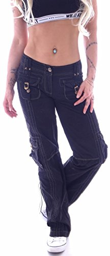 Cargo Donna Nero station Style Jeans qfxw47fF