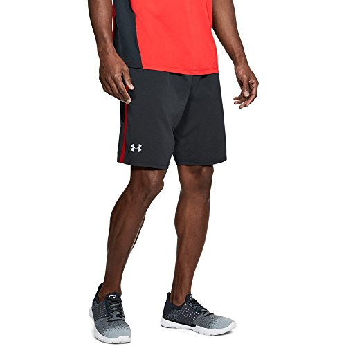 Under Armour Men's Launch 9'' Shorts, Black Medium Heather/Reflective, Small by Under Armour (Image #1)