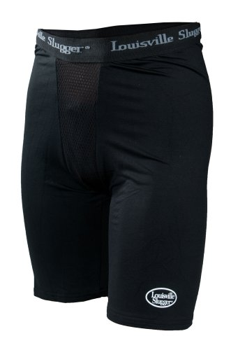 Louisville Slugger Boy's Slugger Compression Shorts with Cup Pocket