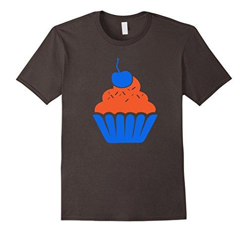 Men's  Cupcake Tshirt - Orange and Blue KD Shirt Large As...