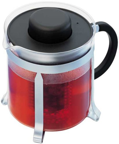(Bodum Medium Oolong Tea Pot, Black Plastic Lid and Stainless Steel Frame, 1.0-Litre, 34-Ounce)