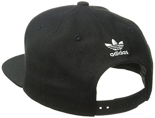 adidas Men's originals snapback flatbrim cap, Black/White, One Size