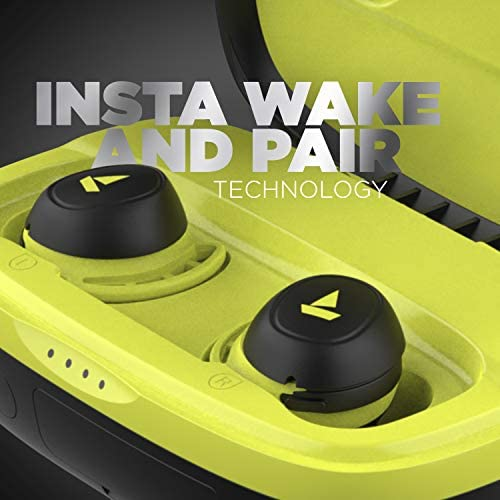 boAt Airdopes 441 Pro TWS Ear-Buds with IWP Technology, Up to 150H Playback with Case, Power Bank Function, IPX7 Water Resistance, Super Touch Controls, Secure Sports Fit & Type-C Port(Spirit Lime)