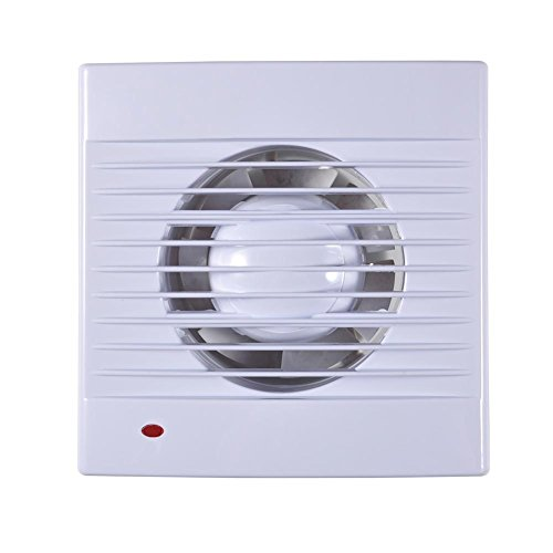 Extractor Fan,110V Wall-Mounted One Speed Setting Shutter Ventilating Exhaust Fan Wall Kitchen Bathroom Extractor (4'')