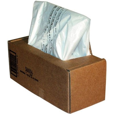 Fellowes Powershred Shredder Bags - Powershred Shredder Bags, 14-20 gal, 50 Bags amp; Ties/Carton