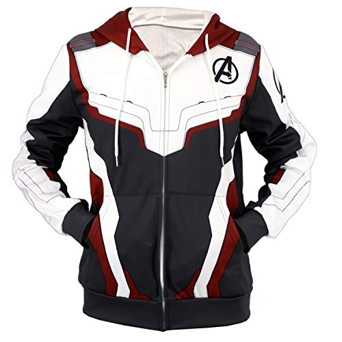 Dunsuns Quantum Realm Superhero 3D Printed Hoodies Tech Jacket Sweatshirts Cosplay Costume Dark Red