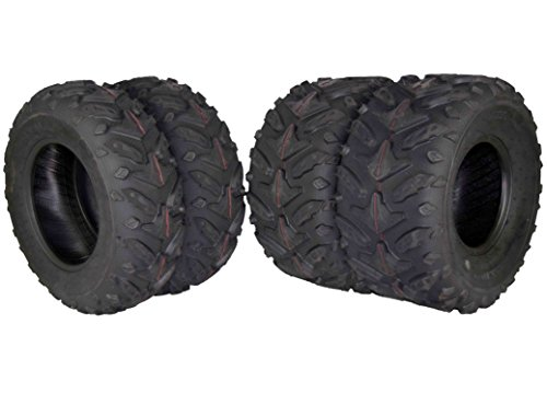 MASSFX Grinder Series ATV Dual Compound Tread Honda Recon All Years (Four Pack Two Front 22x7-11 Two Rear 22x10-9) Mud Sand Snow and Rock Tires by MASSFX