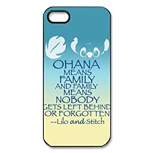 Customize Cartoon Lilo & Stitch Back Cover Case for For iphone 5/5s JN-2420