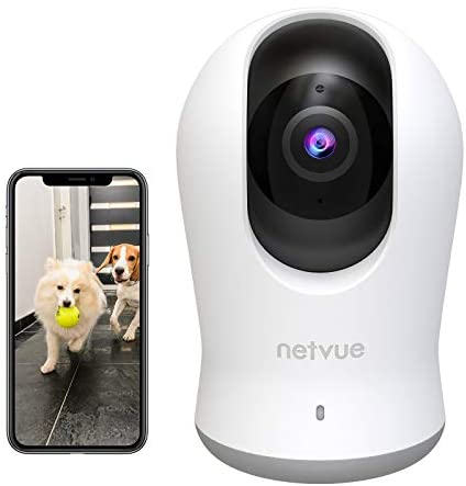 2K 3MP Indoor Camera, Dog Camera with 360° 8X PTZ, WiFi Camera Indoor with H.265 Coding Technical, 2-Way Audio, AI Human Detection, Enhanced Night Vision in Invisible Infrared, Compatible with Alexa