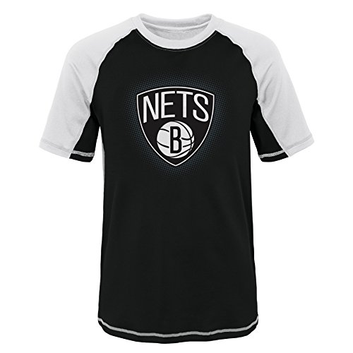 NBA teen-boys NBA Youth Boys 8-20 Brooklyn Nets Short Sleeve Rash Guard – Sports Center Store