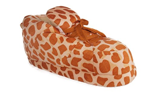 Happy Feet 1120-2 - Giraffe Print - Medium Sneaker Slippers