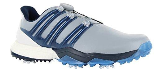 adidas Powerband BOA Boost Golf Shoes,Grey,10.5 M US