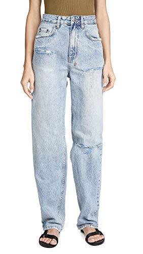 ksubi Women's x Kendall Playback Skream Trashed Flash Jeans, Denim, Blue, 28