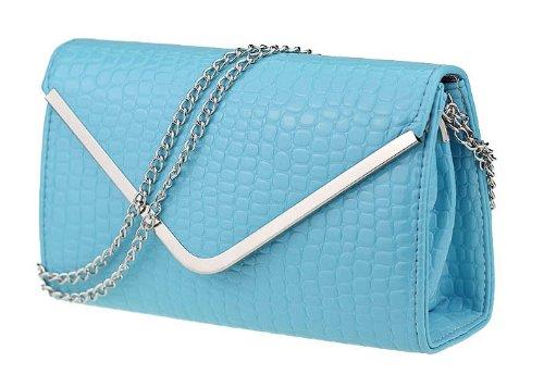 2014 New Korean Stone Grain Blue Triangle Cover Bag