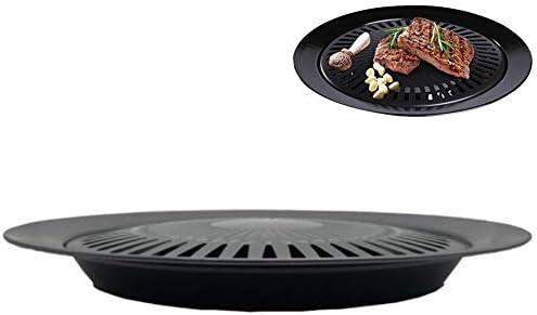 Korean Barbecue Plateau extérieur cassette Four Grill Pan antiadhésifs ronde Portable Pan antiadhésives Teppanyaki outil Barbecue