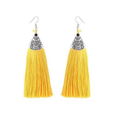 Wansan Tassel Earrings for Women Girls Fish Mouth Fringe Earrings Bohemian Dangle Drop Stud Earrings Fashion Jewelry Valentine Birthday