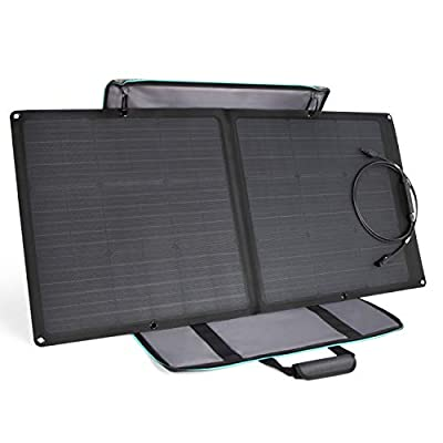 EF ECOFLOW Solar Panel 85W Portable Solar Charger Panel MC4 Waterproof Port Compatible with River 370/RIVER 412 Power Station (Cables Sold Separately)