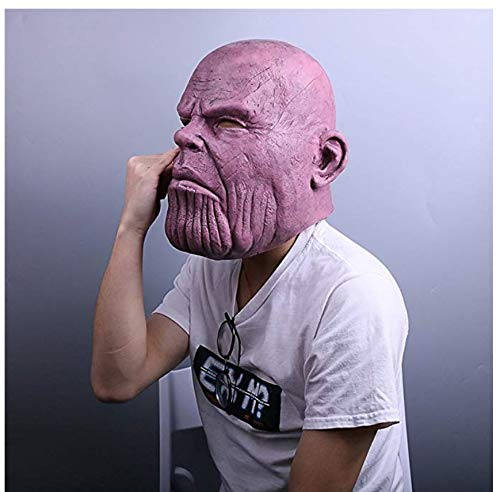 Avengers Infinity War Cosplay Thanos Mask.Halloween costumes.Funny and weird latex mask.Used for Halloween props,friends play pranks on each other.Head circumference can be worn between 54cm and 62cm. by KTRO (Image #3)