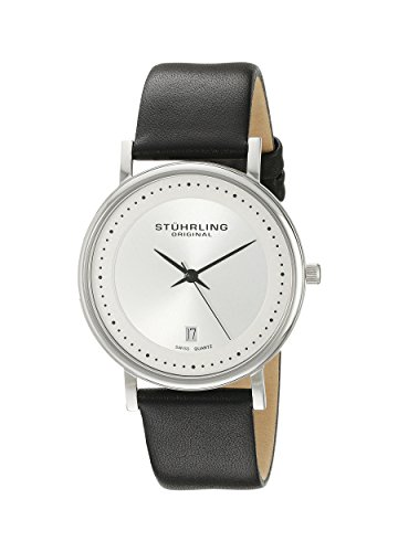 Stuhrling Original Men's 734G.01 Classic Ascot Castorra Elite Ultra-Slim Stainless Steel Watch