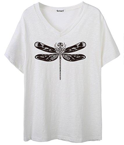 So'each - Camiseta - para mujer blanco