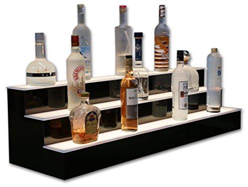 3 Step LED Lighted Bar Shelves, Liquor Shelves, Bottle Display