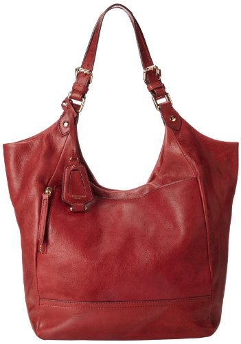 Olivia Harris Round Sack Hobo,Scarlet,One Size, Bags Central