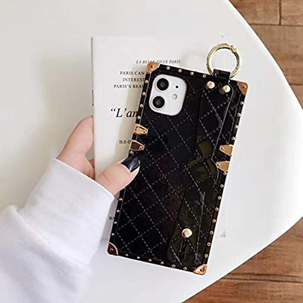 Square Case Compatible iPhone Xs Max Gold Blue Marble Luxury Elegant Soft TPU Full Body Shockproof Protective Case Metal Decoration Corner Back Cover iPhone Xs Max Case 6.5 Inch