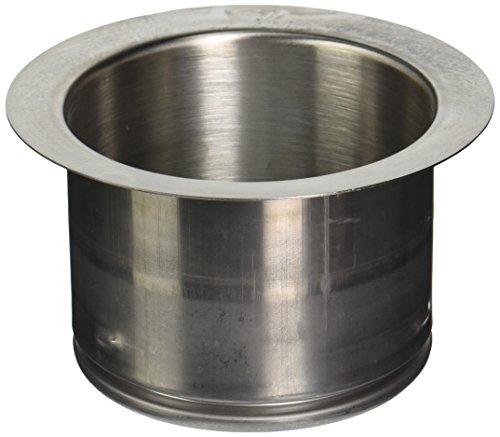- Waste King Garbage Disposal Extended 3-Bolt Mount Sink Flange, Satin Nickel - 3141AMC