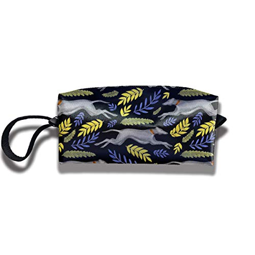 Coin Pouch Greyhound Pen Holder Clutch Wristlet Wallets Purse Portable Storage Case Cosmetic Bags Zipper ()