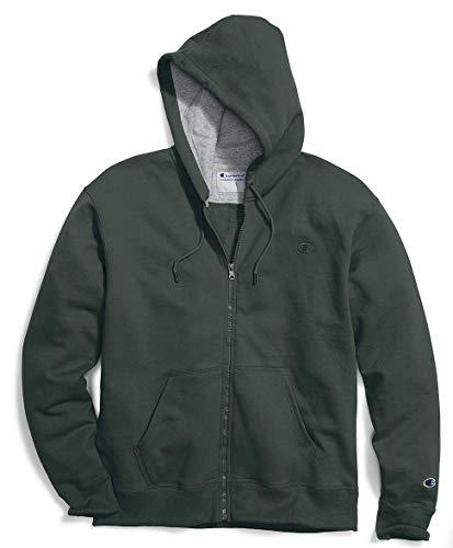 Champion Men's Full-zip Eco Fleece Jacket Hoodie, Dark Green, X-Large