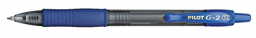 Pilot G2 Retractable Premium Gel Ink Roller Ball Pens Bold Pt (1.) 2 Dozen Box Blue ; Retractable, Refillable & Premium Comfort Grip. (2 Dozen Box) by CAI - PILOT (Image #1)