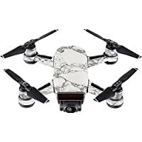 Skin For DJI Spark Mini Drone – White Marble | MightySkins Protective, Durable, and Unique Vinyl Decal wrap cover | Easy To Apply, Remove, and Change Styles | Made in the USA