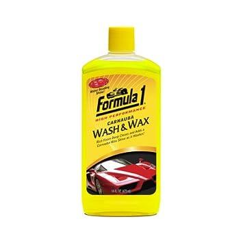 Espuma con cera de carnauba para coche para lavado y encerado Fórmula 1: Amazon.es: Coche y moto
