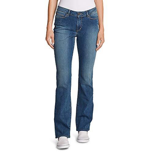Eddie Bauer Women's StayShape Boot Cut Jeans - Curvy, Indigo Blue Regular 14 Reg (Best Jeans For Size 14 Curvy)