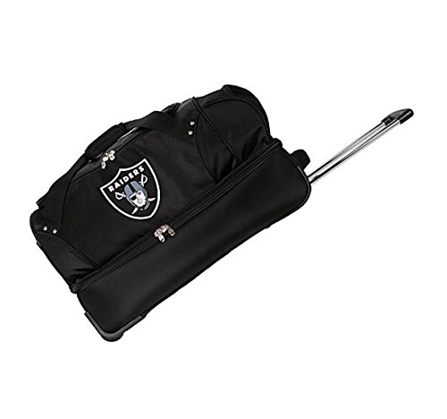 Concept One Accessories NFL Denco 22-Inch Drop Bottom Rolling Duffel Luggage, Black