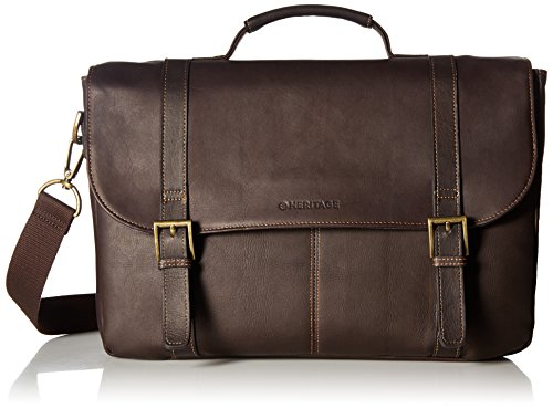 - Heritage Travelware Colombian Leather Dual Compartment 16