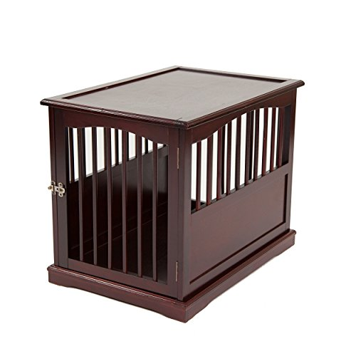Primetime Petz End Table Kennel, Medium, Walnut (Table Crate)