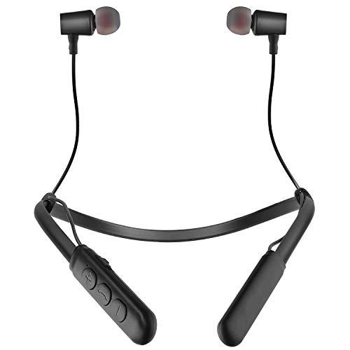 ShopMagics Wireless Bluetooth Headphones Earphones for Vivo Y20 / Y 20 Earphone Bluetooth Wireless Neckband Flexible In-Ear Headphones Headset With Mic, Extra Deep Bass Hands-Free Call/Music, Sports Earbuds, Sweatproof (B3, Multi)