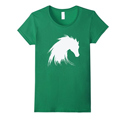 Horse Head Pattern A Costume (Womens Horse Head T Shirt Small Kelly Green)