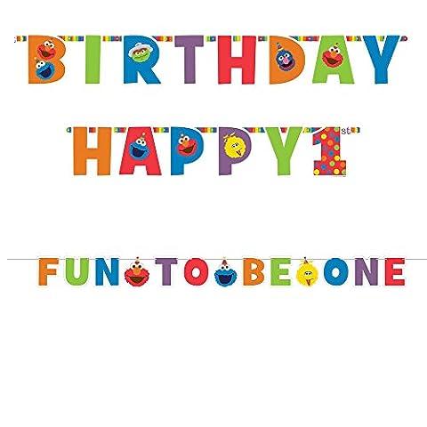 1st Birthday Elmo Letter Banner Kit Party Supplies Elmo Sesame Street Fun to be One! - Elmos Letter
